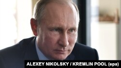 Orsýetiň prezidenti Wladimir Putin, Tanhoý obasy, Burýatiýa, 4-nji awgust, 2017.