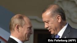 Президенты России и Турции Владимир Путин и Реджеп Эрдоган