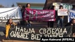 Алматыдагы митинг. 9-ноябрь, 2019-жыл.
