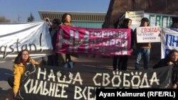 Алматыдағы Oyan, Qazaqstan митингісі. 9 қараша 2019 жыл.