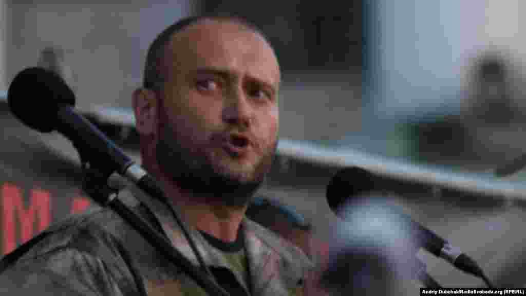 Лідер«Правого сектору» Дмитро Ярош під час промови