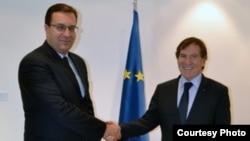 Marian Lupu și Jean-Claude Mignon la Strasbourg, septembrie 2012.