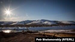 Поплавен рудник во Русија во март, минатата година.