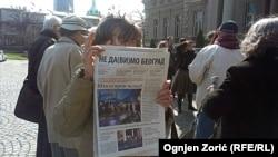 """Sa jednog od protesta inicijative """"Ne davimo Beograd"""", mart 2015"""