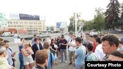 Уфа. Народный сход в защиту Навального