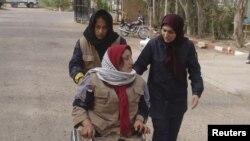 یکی از زخمیان حملات گذشته به اردوگاه اشرف