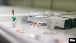 Вакцинирање за морбили на вакцинален пункт во Скопје / Vaccine measles
