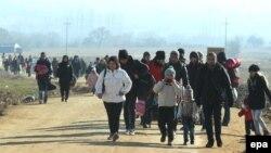 Сербиядағы Сирия мигранттары.
