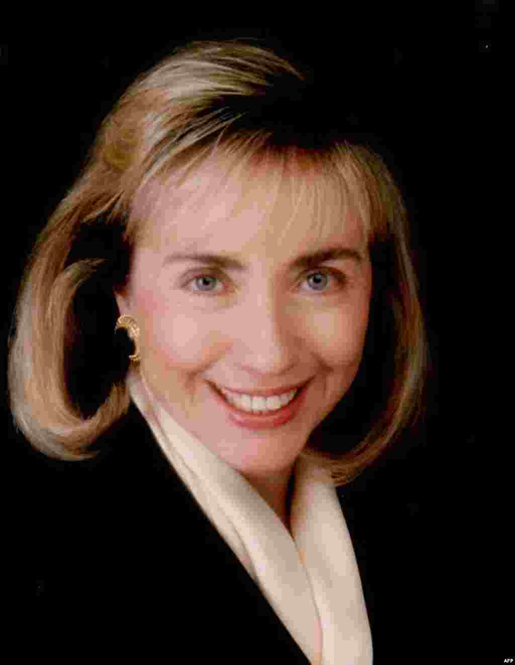 An official White House photo shows Hillary Clinton in her new role as first lady on January 21, 1993.