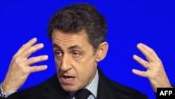 Президент Франции Николя Саркози. Париж, 20 января 2012 года.