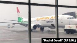 Tajikistan -- Somon Air company's airplane, 17Oct2019