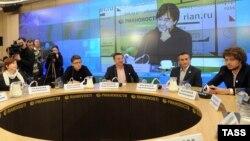 Пресс-конференция Лиги избирателей в Москве