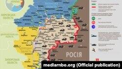 Ситуація в зоні бойових дій на Донбасі, 23 лютого 2018 року