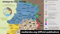 Ситуация в зоне боевых действий на Донбассе, 23 февраля 2018 год
