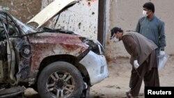 صحنه انفجار بمب در ۵۰ کیلومتری کویته پاکستان