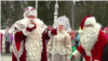 Russia / Finland - Russia's Father Frost and his Finnish counterpart, known as Joulupukki, met at a border post on December 24 to exchange gifts and holiday greetings. Reuters screen grab Santa Claus
