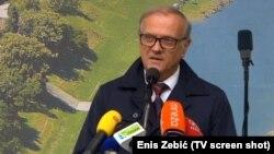 Ministar pravde Hrvatske Dražen Bošnjaković na obilježavanju Dana antifašističke borbe u šumi Brezovica pored Siska, 2019.