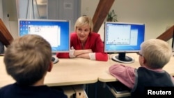 Урок компьютерной грамотности в одной из школ Таллина
