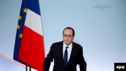 Francois Hollande gjatë fjalimit të sotëm në Paris