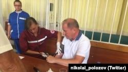 Ільмі Умерову міряють тиск у суді, 11 серпня 2016 року