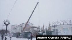 Сніг у Сімферополі, архівне фото