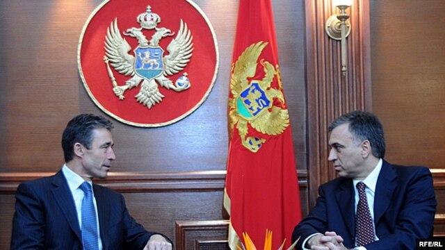Generalni sekretar NATO Anders Fogh Rasmussen sa Filipom Vujanovićem prošle nedjelje u Podgorici