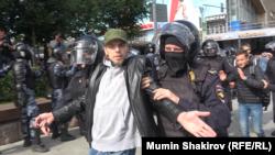 Ռուսաստան, Մոսկվա, Պուշկինի հրապարակ, 3-ը օգոստոսի, 2019թ.