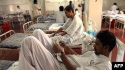 Victims of the coordinated November attacks in a Mumbai hospital