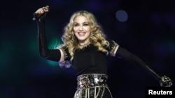 Мадонна, американская певица. Индиана, 5 февраля 2012 года.