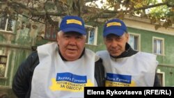 Агитаторы за кандидата в мэры Эдуарда Гурвица в одесском районе Застава