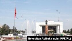 Центральная площадь Бишкека.