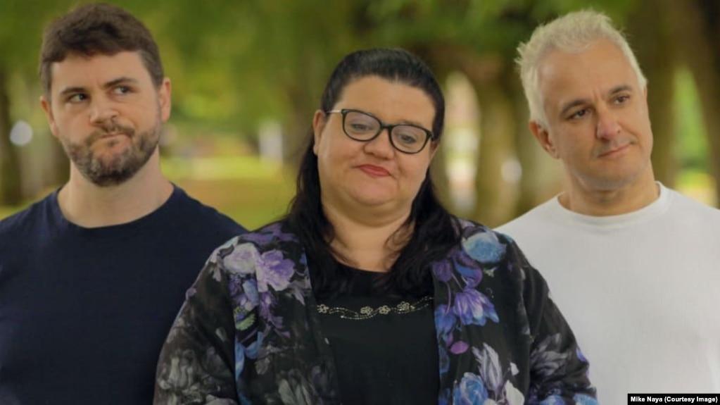 Джеймс Линдси, Хелен Плакроуз и Питер Богоссян (слева направо)