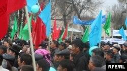 Роҳпаймоии эътирозӣ дар Бишкек, 27-уми март