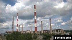 Вид на город Счастье в Луганской области в Украине.