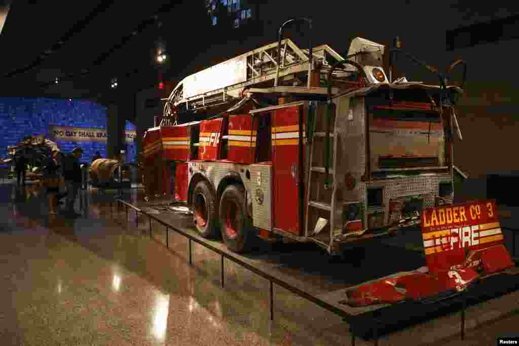 A fire truck of the New York Fire Department that was used in the rescue effort