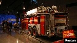 Искореженная пожарная машина