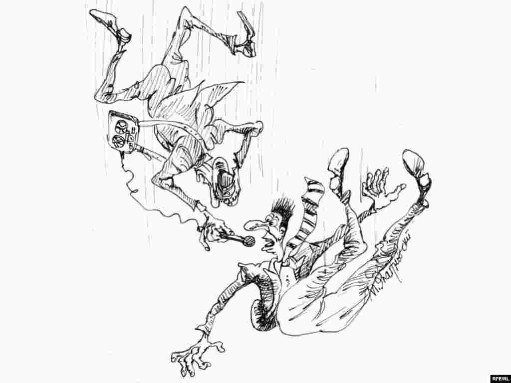 """Будь проклята социология. Михаил Златковский. """"Как жить дальше?"""" Новость о падении рейтингов В.В.Путина и Д.А.Медведева разрушила представление художника об устройстве мира."""