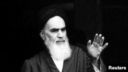 Аятолла Хомейни, лидер Исламской революции 1979 года в Иране