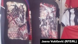 Majice koje su se, između ostalog, mogle naći na šetalištu u Budvi