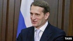 Ресей мемлекеттік думасы спикері Сергей Нарышкин.