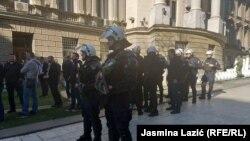 Протест пред зградата на Претседателството во Белград.17.03.19.