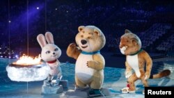 На церемонии закрытия зимней олимпиады в Сочи