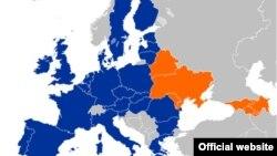 Мапа Ўсходняга партнэрства