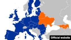 Եվրամիության Արևելյան գործընկերության քարտեզը