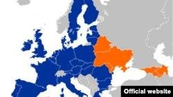 Карта «Восточного партнерства»
