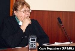 Клара Имангалиева, судья апелляционной коллегии Алматинского городского суда. Алматы, 10 сентября 2012 года.