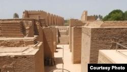 مشهد من مدينة بابل الأثرية
