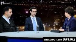 Բաբկեն Պիպոյանը և Կարլեն Խաչատրյանը «Ազատության» տաղավարում, 9-ը հոկտեմբերի, 2017 թ․