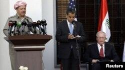 بارزاني يلقي كلمة في مراسم إفتتاح القنصلية العامة الأميركية في أربيل