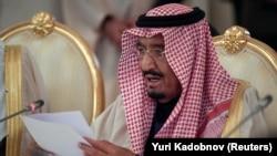Сауд Арабиясының королі Салман. Мәскеу, Ресей, 5 қазан 2017 жыл.